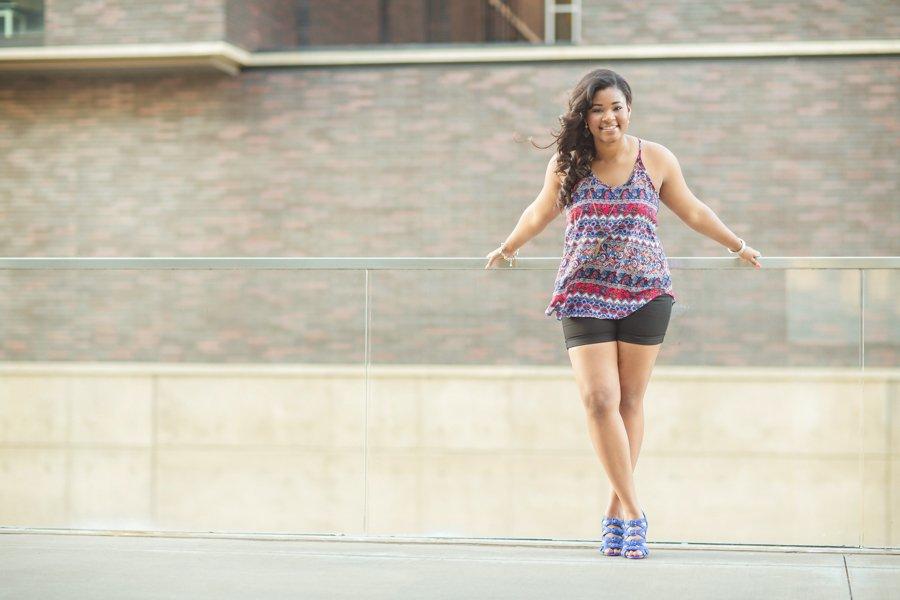 Frisco High School Senior Photos Kalela Posing