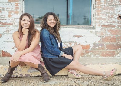 two senior girls in Dallas Texas