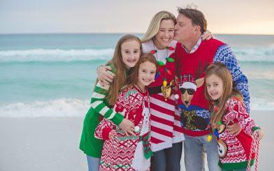 Blue Mountain Beach Holiday Family Photos | Santa Rosa Beach, FL | Hayes Family